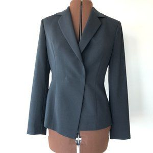 Perry Ellis Lined Black Blazer Size 40